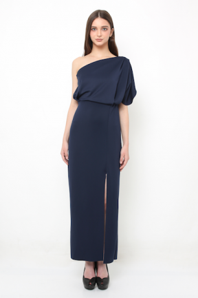 Eden long gown in navy