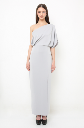 Eden long gown in grey