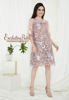 CA.2197 GREY NATALIA LACE DRESS