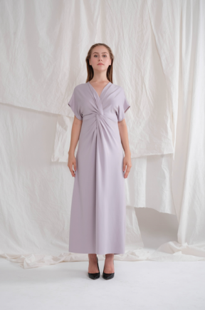 Abigail long gown in lilac