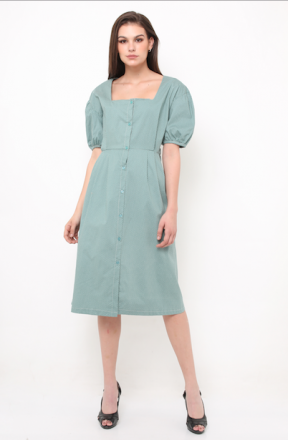 Olivinne dress in green