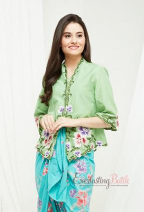 CA.1219 GREEN KEBAYA BOLERO TOP
