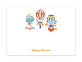 'Montgolfiere' (Note Cards Set of 6)