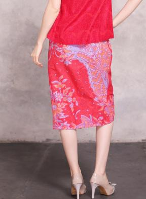 CA4167 RED GITASUKMA  BATIK SKIRT