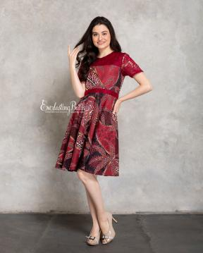 CA.2214 MAROON CELINE DRESS