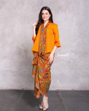 CA.1239 ORANGE KARTIKA DOBBY TOP