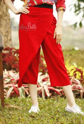 CA.3177 RED LANCOME COTTON PANTS