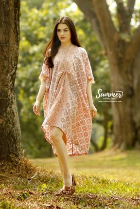 CA.2161 PEACH AUDELIA LACE DRESS