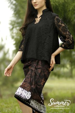 CA.1157 BLACK TIANA LACE TOP