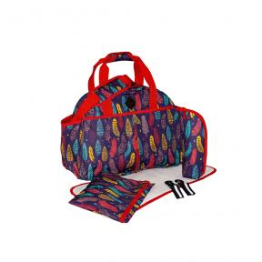 Freckles Travel Bag Purple Feather