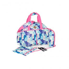Freckles Travel Bag Blue Kitty