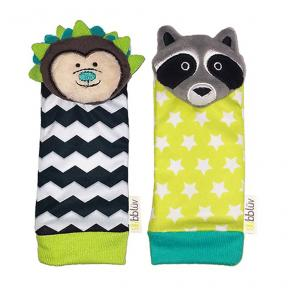 bbluv Foot Finders Hedgehog & Raccon