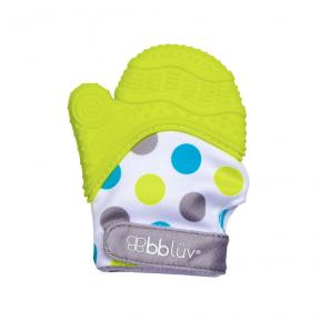 bbluv Baby Teething Mitten Lime