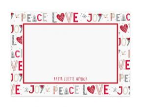 'Peace Love Joy' (Note Cards Set of 6)