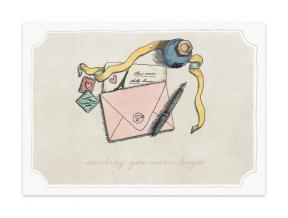 'Bisou' (Folded Note Cards Set of 6)