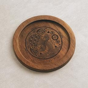 'Aquarius' Teak Coaster