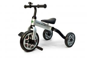 Rastar Official Lisenced kids bike - Land Rover 3 in 1 Balance Bike & Tricycle Foldable - Silver - Sepeda Anak