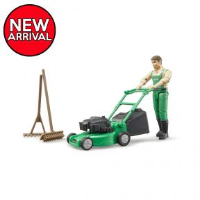Bruder 62103 - bworld Gardener with lawn mower and equipment