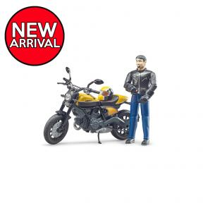 Bruder 63053 - bworld Scrambler Ducati Full Throttle with driver