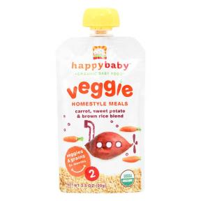 Happy Pouch ( Stage 2 ) Carrot, Sweet Potato & Brown Rice Blend 99 gr
