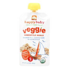 Happy Pouch ( Stage 2 ) Basmati Rice, Coconut Milk & Carrot Blend 99 gr