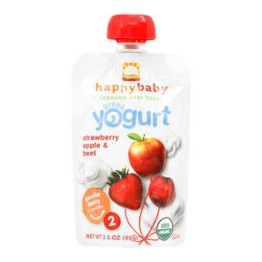 Happy Pouch ( Stage 2 ) Greek Yogurt Strawberry Apple & Beet 99 gr