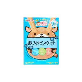 Wakodo Baby Snacks - Iron-Fortified Biscuits