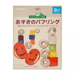 Wakodo Baby Snacks - Puffed Rice And Azuki Beans Ring Cake