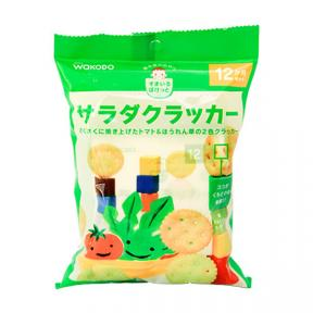 Wakodo Baby Snacks - Vegetables Cracker Tomatoes & Spinach