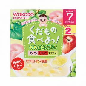 Wakodo Fruit Pure Peach & White Grape