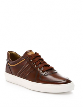 Bally Heimburg Washed Leather Sneakers