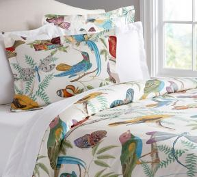 Humming bird duvet cover & sham
