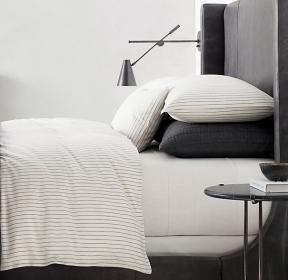 Soft Cotton Pinstripe Duvet Cover