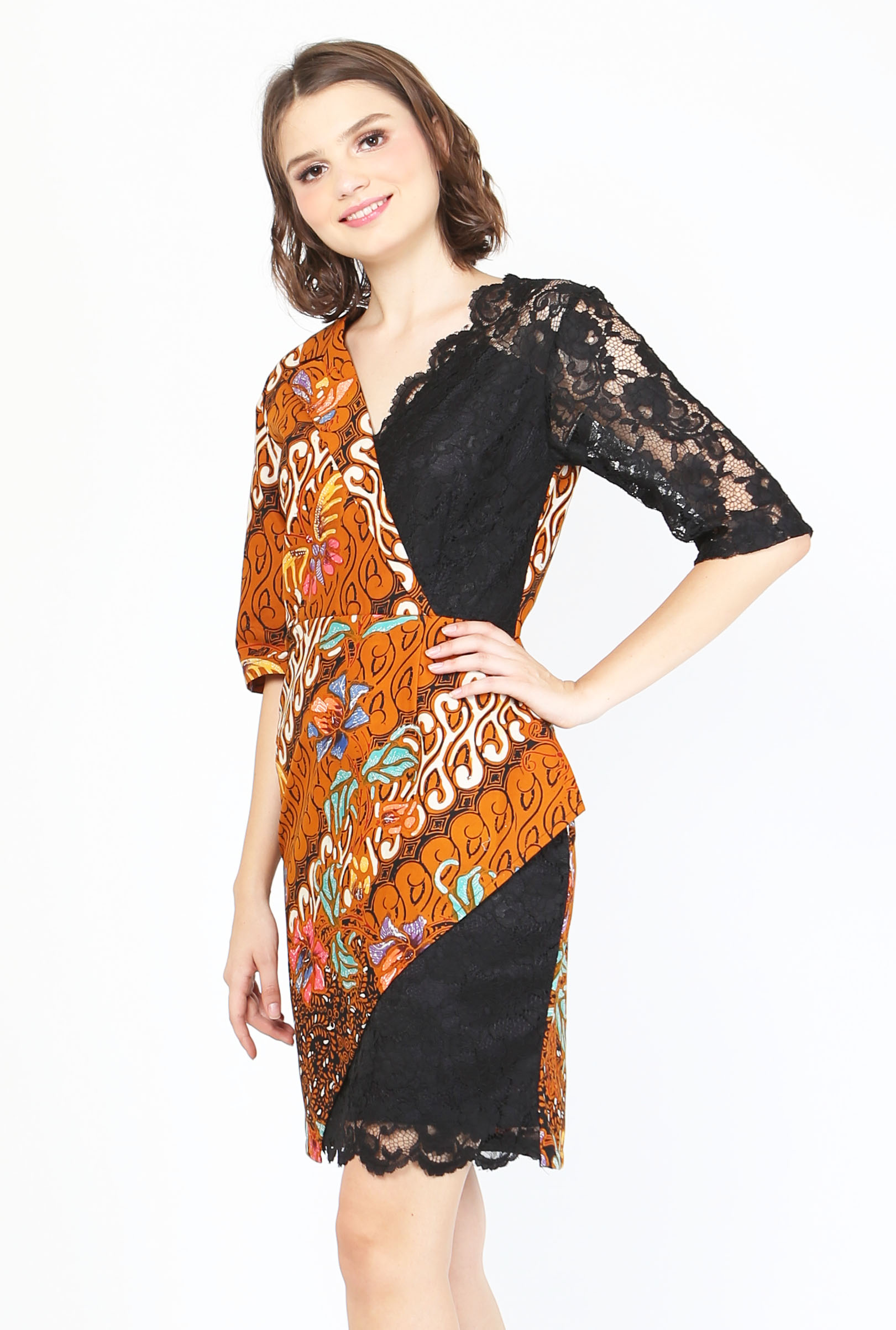 Ca 29025 Melanie Lace Batik Dress