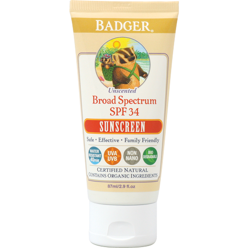 Badger SPF 30 Unscented Sunscreen