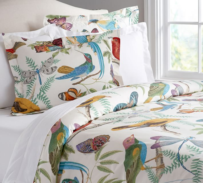 reversible floral king duvet with and multicolour dp set print bird pillowcases cotton butterfly cover matching